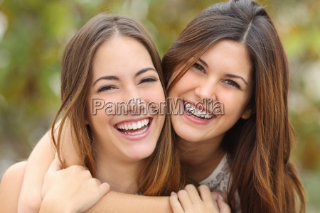 two, women, friends, laughing, with, a - 13464030