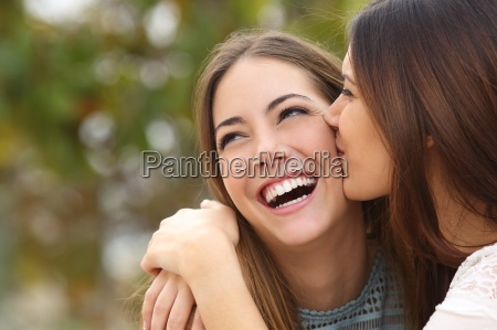 woman, laughing, with, perfect, teeth, while - 13464034