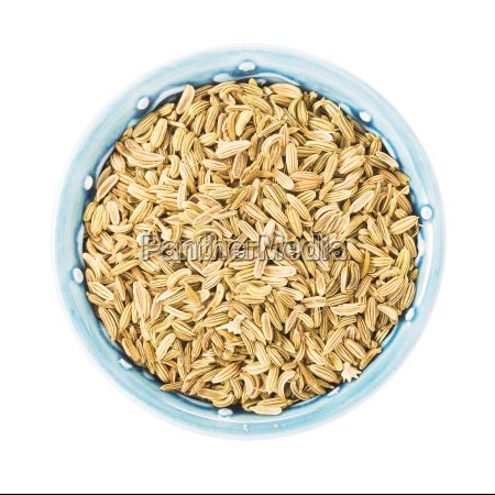 bowl, of, fennel, seeds, on, white - 13465448