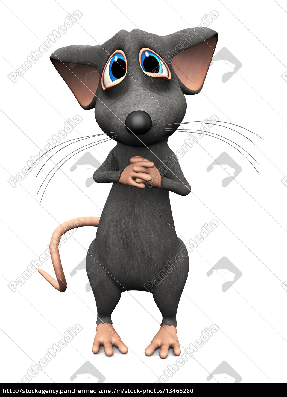 cartoon, mouse, with, big, sad, eyes. - 13465280