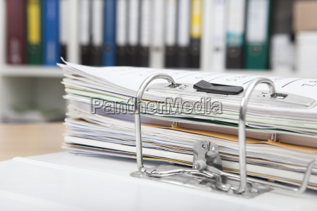 file folders on desk