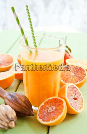 fresh blood orange juice