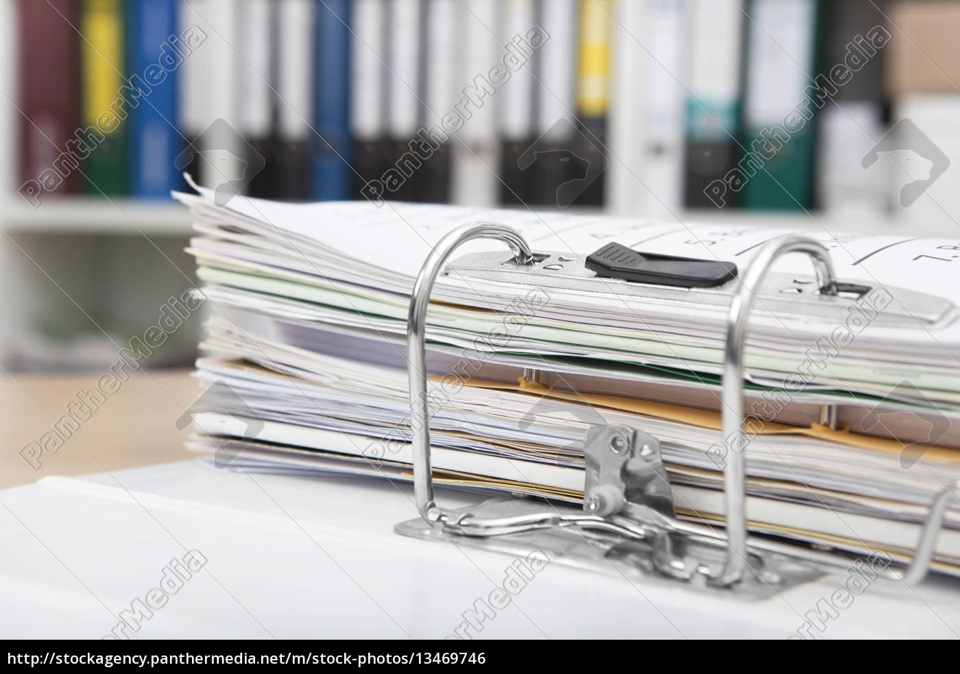 file, folders, on, desk - 13469746