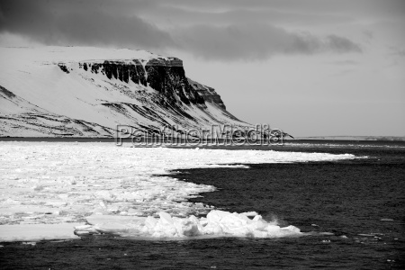 black and white cliffs in arctic