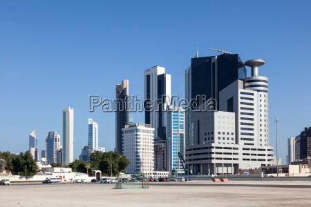 high rise buildings downtown in kuwait