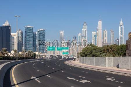 city highway in dubai united arab