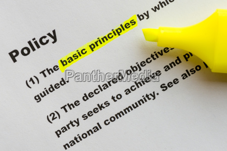 the word policy highlighted