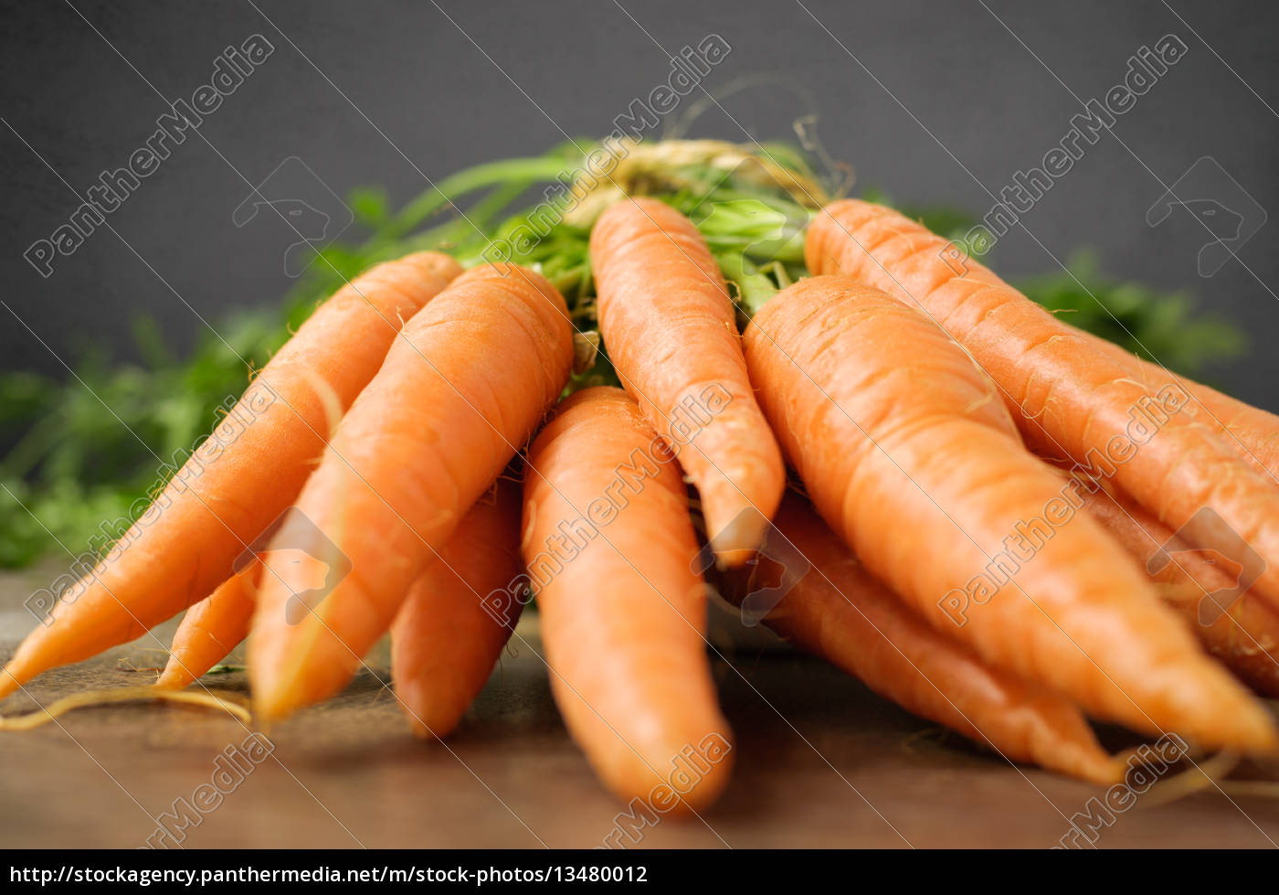 fresh, carrots, on, wooden, table - 13480012