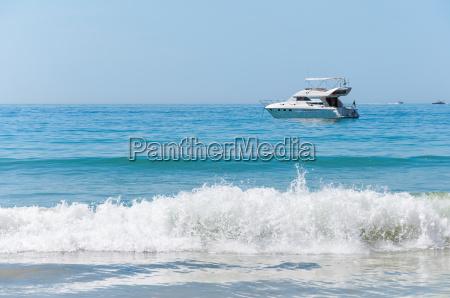 luxury yacht on the atlantic ocean