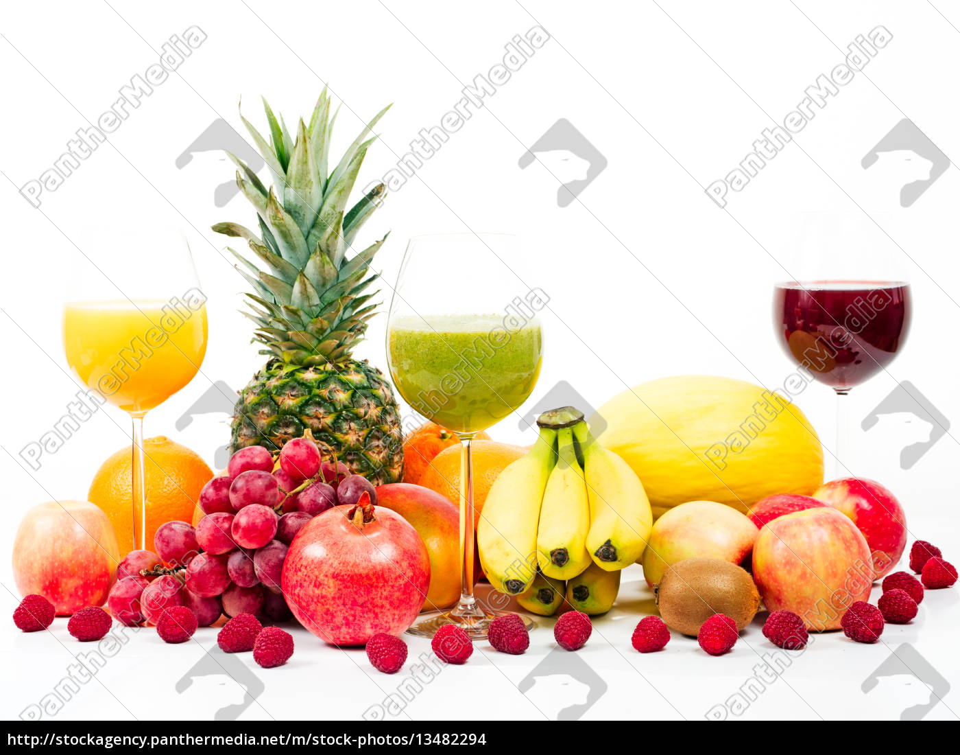 fruits, and, tropical, fruits, with, fruit - 13482294