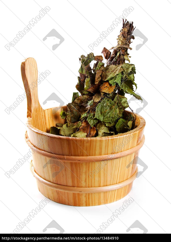 sauna, accessories, -, bucket, with, birch - 13484910