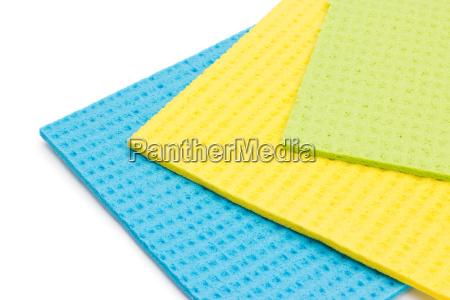 three sponge cloths