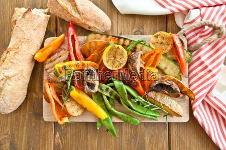 colorful grilled vegetables