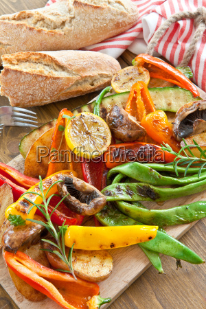 colorful grilled vegetables