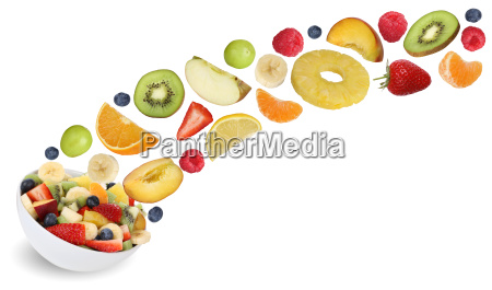 flying, fruit, salad, with, fruits, such - 13508898