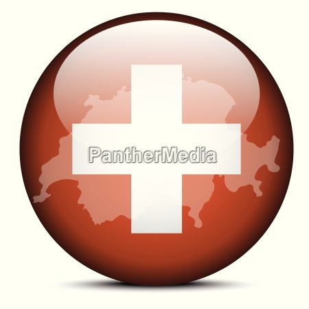 map on flag button of switzerland