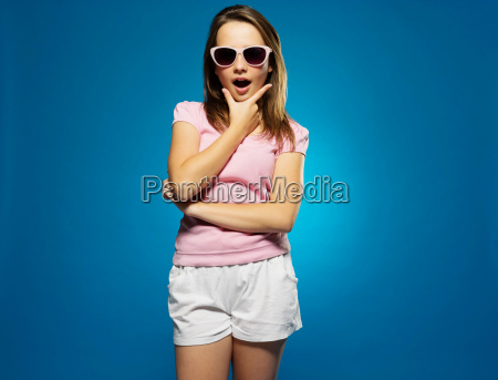 fashionable young girl with a look