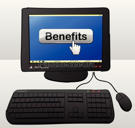 benefits computer concept