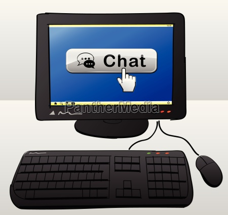 chat computer concept