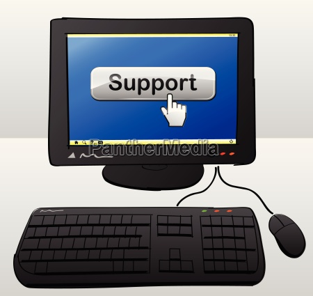 support computer concept