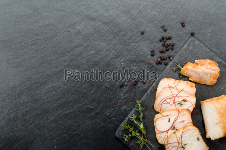 marinated pork with vegetables and honey
