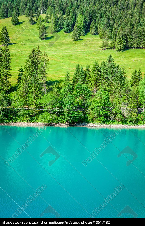 beautiful, view, mountain, lake., steg, malbun, in - 13517132