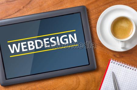 tablet desk webdesign