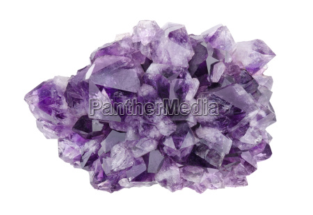 amethyst directly above over white background
