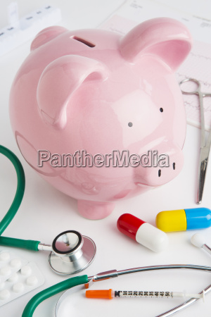 savings bank with medical equipment to