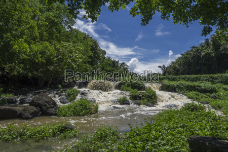 waterfalls on the river citron in