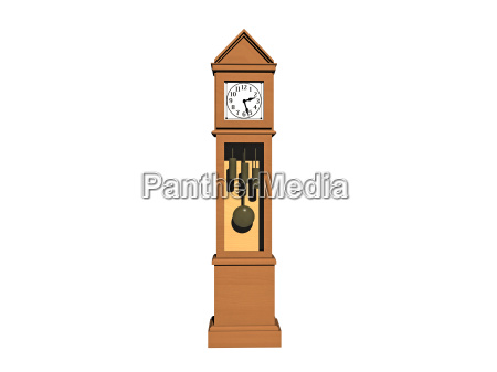 optional clock with pendulum and weights
