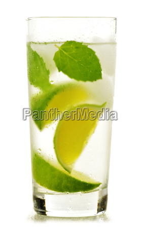 glass, of, water, with, lime, and - 13537814