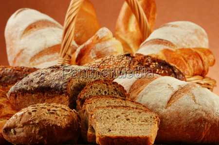 wicker, basket, with, variety, of, baking - 13538018
