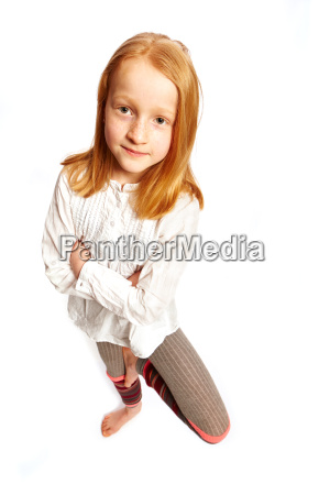 girl standing on one leg