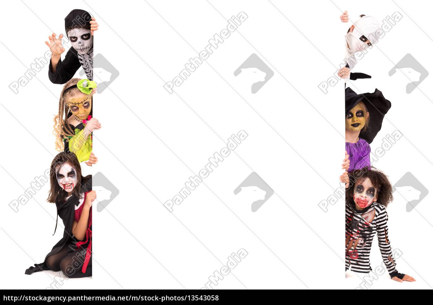 kids, in, halloween, costumes - 13543058