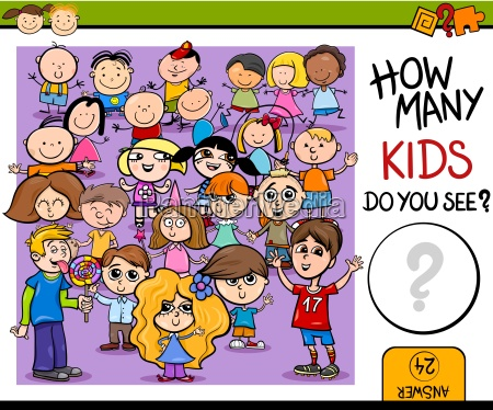 counting game cartoon illustration