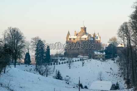berlepsch castle near witzenhausen in northern