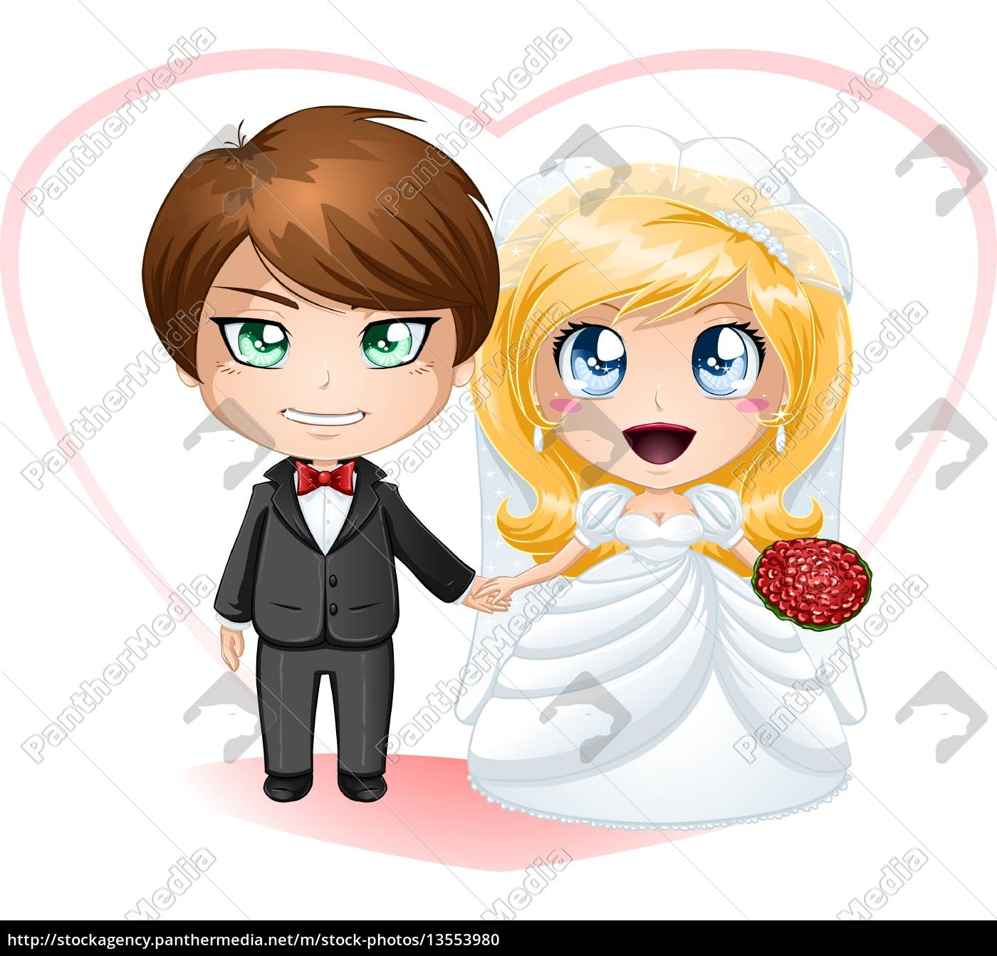 bride, and, groom, getting, married - 13553980