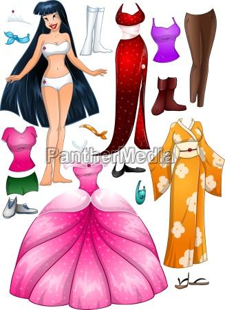 asian, girl, princess, dress, up - 13554328