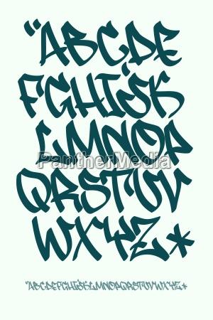 graffiti font hand written