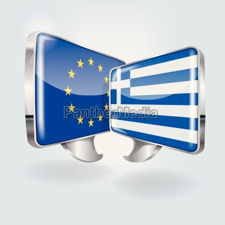 speech bubbles in european and greek