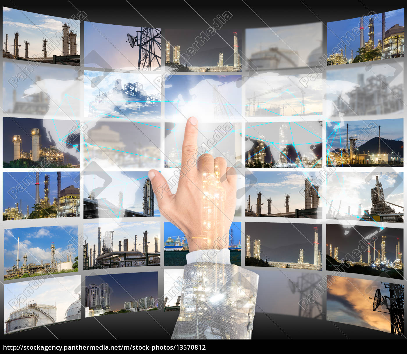 double, exposure, hand, businessman, click, choice - 13570812