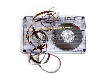 close up of vintage audio tape