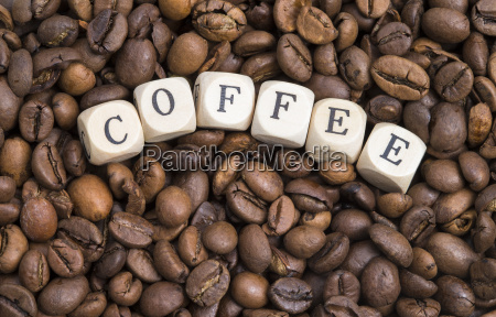 letters with coffee beans