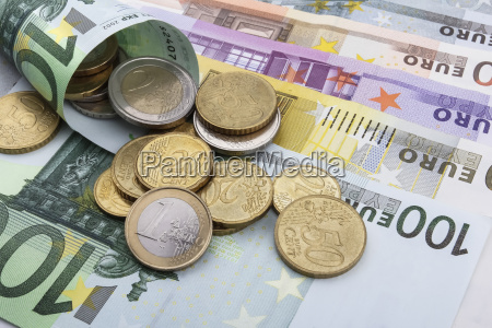 euro eur coins and notes