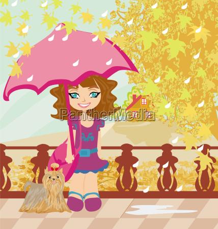 walk in autumn day
