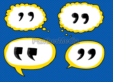 quote dialog bubbles