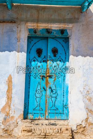decorative door in kairouan tunisia