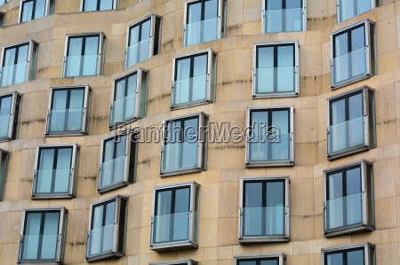 facade with windows in berlin