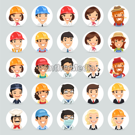 professions vector characters icons set12